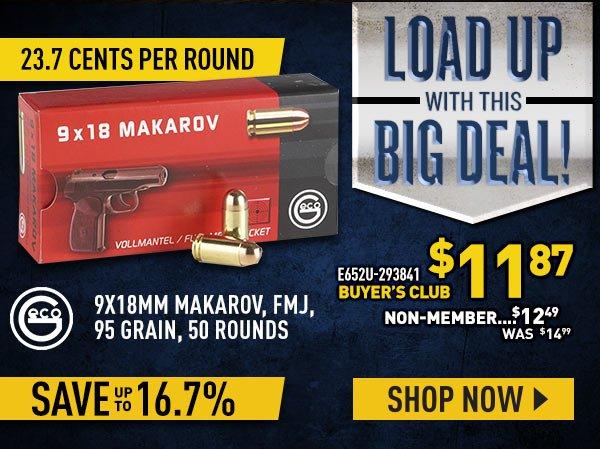 9x18mm Makarov, FMJ, 95 Grain, 50 Rounds