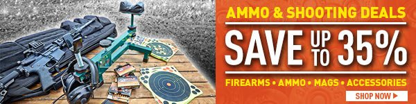 Ammo & Shooting Deals! Save up to 35%! Firearms - Ammo - Mags - Accessories. Prices in this email are good while supplies last through December 28, 2016.