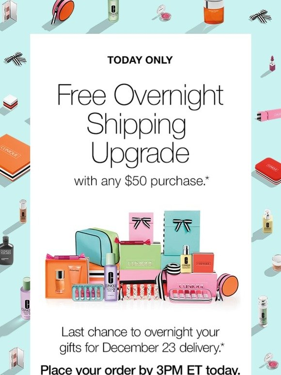 Clinique: Last Chance: FREE Overnight Shipping. | Milled