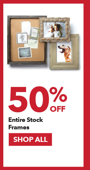 50% off Entire Stock Frames. SHOP ALL.