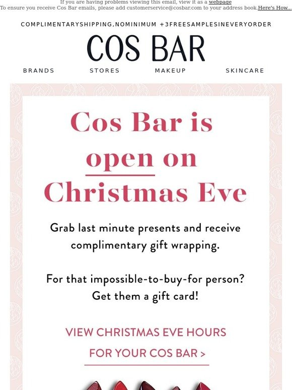 cos bar our stores are open on christmas eve joy to the world milled - How Late Is Target Open On Christmas Eve