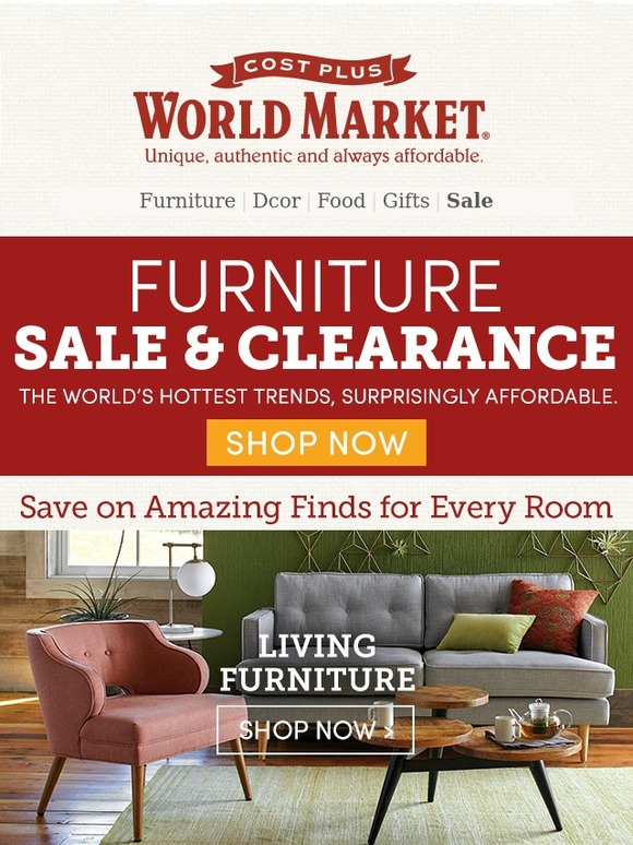 Superbe Cost Plus World Market: Our BIGGEST Furniture Sale EVER Starts NOW. | Milled