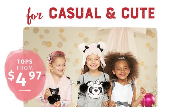 For casual and cute – tops from $4.97