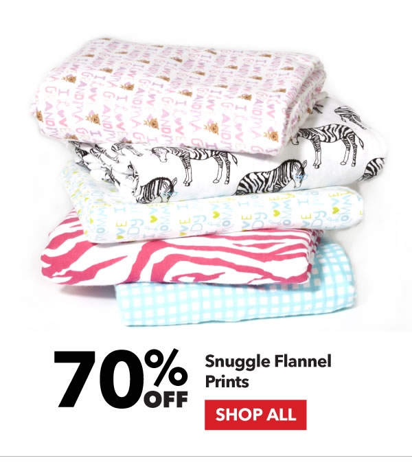 70% off Snuggle Flannel Prints. Shop All.