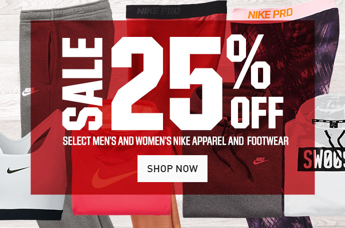 2049a365ff7f SALE 25% OFF SELECT MEN'S AND WOMEN'S NIKE APPAREL AND FOOTWEAR | SHOP NOW