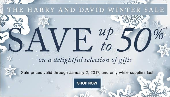 The Harry and David Winter Sale - Save up to 50% on a delightful selection of gifts