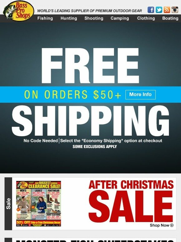 Bass pro online coupons free shipping