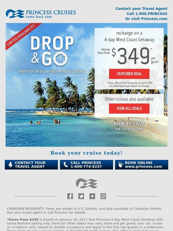 book cruise in canadian dollars