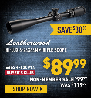 Leatherwood Hi-Lux 6-24x44mm Rifle Scope