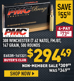 PMC Bronze, .308 Winchester (7.62 NATO), FMJBT, 147 Grain, 500 Rounds