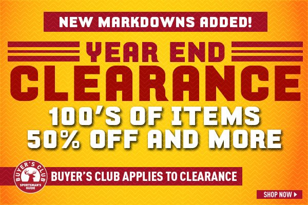 Year End Clearance! New markdowns added! 100's of items 50% off and more. Buyer's Club applies to clearance items.