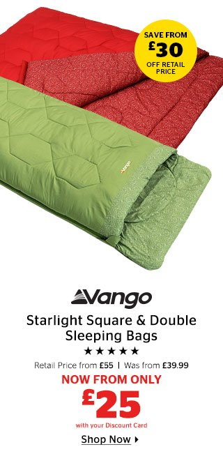 Vango Starlight Square & Double Sleeping Bags