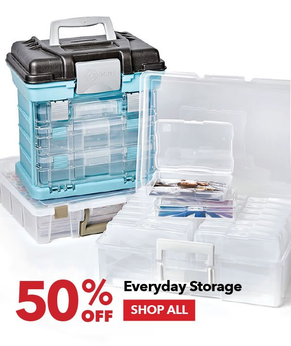 50% off Everyday Storage. SHOP ALL.
