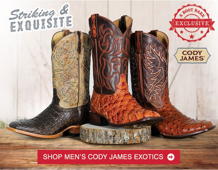 49a0e783d7f BootBarn.com  Get Wild In NEW Cody James Exotic Boots
