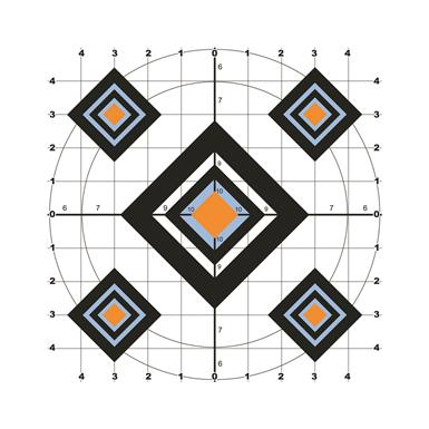 "10"" Black Diamond Paper Shooting Target, 10 Pack"