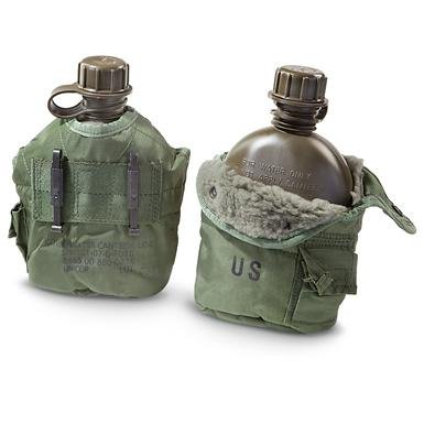 U.S. Military Surplus 1-qt. Canteens with Covers, 2 Pack, New