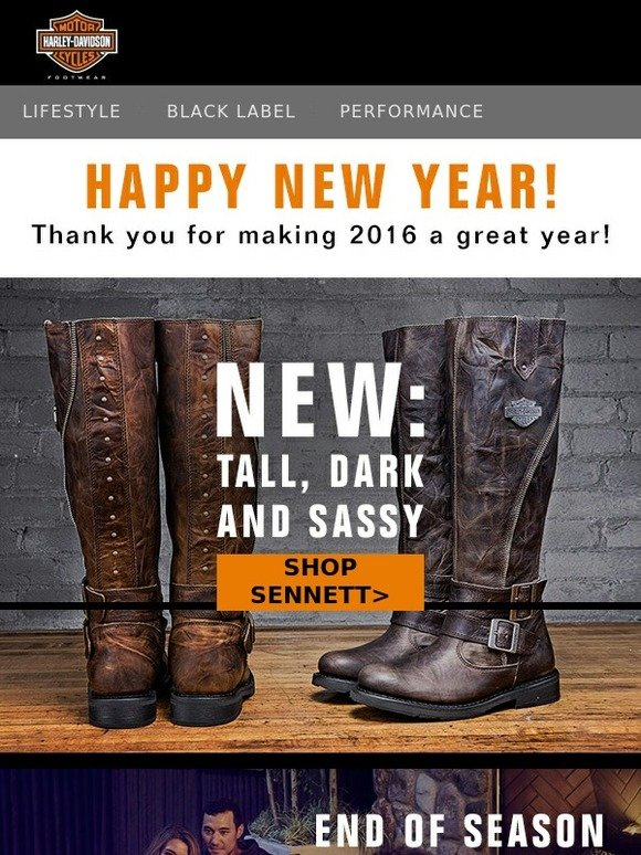 harley davidson footwear happy new year shop the end of season sale milled