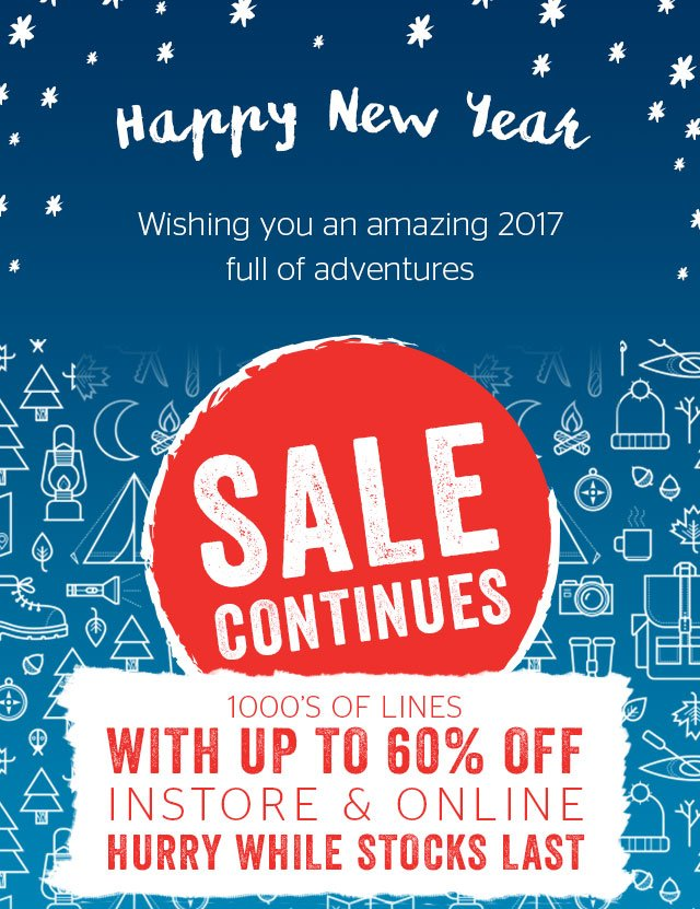 Happy new Year - Sale Continues