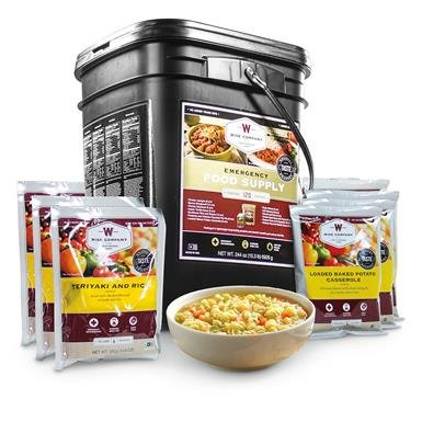 Wise Foods Entree Only Grab & Go Emergency Food Supply, 120 Servings