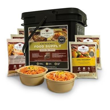 Wise Emergency Food Supply Grab & Go Meal Bucket, 56 Servings