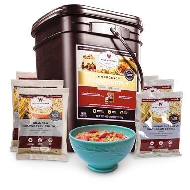 Wise Emergency Food Supply Grab & Go Breakfast Bucket, 120 Servings