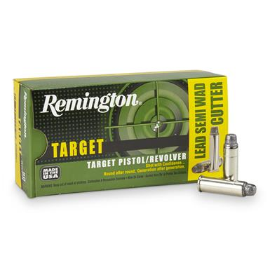 Remington .38 Special 158 Grain Lead SWC Target Pistol / Revolver Rounds, 50 rounds