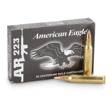 Federal, American Eagle, .223 Rem., FMJ, 55 Grain, 260 Rounds