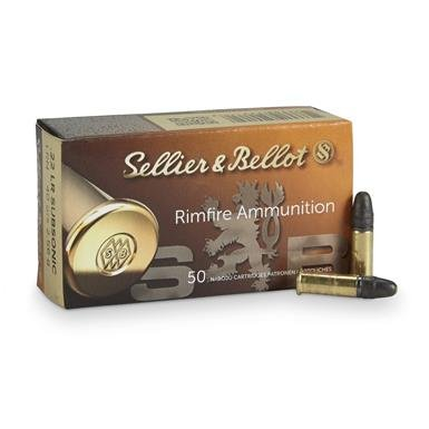 Sellier & Bellot, .22LR, 40 Grain, Subsonic, LRN, 50 Rounds