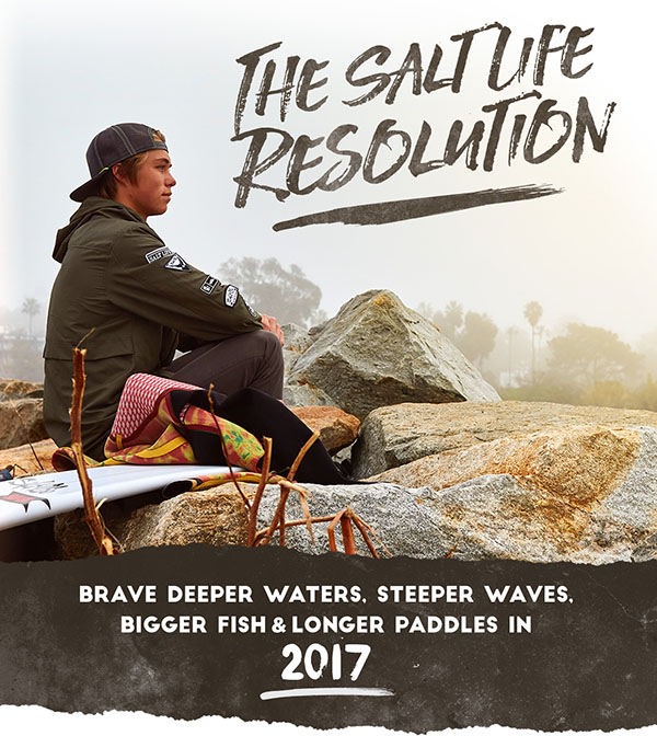 Brave deeper waters, steeper waves, bigger fish and longer paddles in 2017.