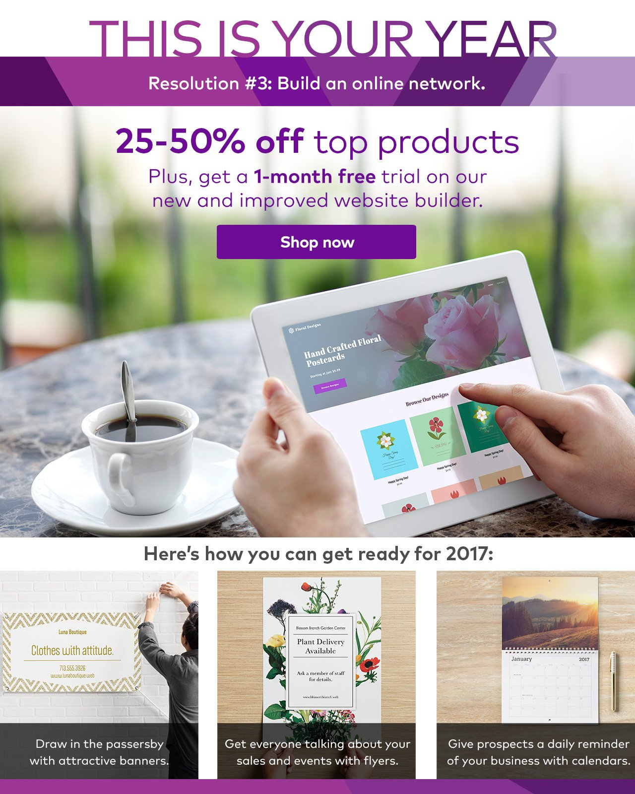 vistaprint ☑resolution 3 plan to attract more customers