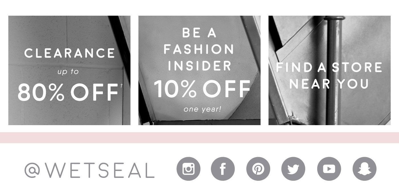 Wet seal fashion insider card 20