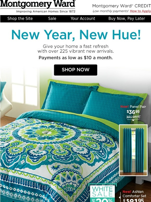 Montgomery Ward Out With The Cold And In With The New Arrivals