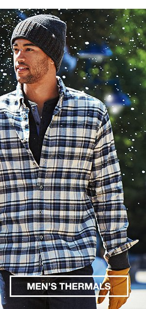 WINTER IS HERE. LAYER ACCORDINGLY. | SHOP MEN'S THERMALS