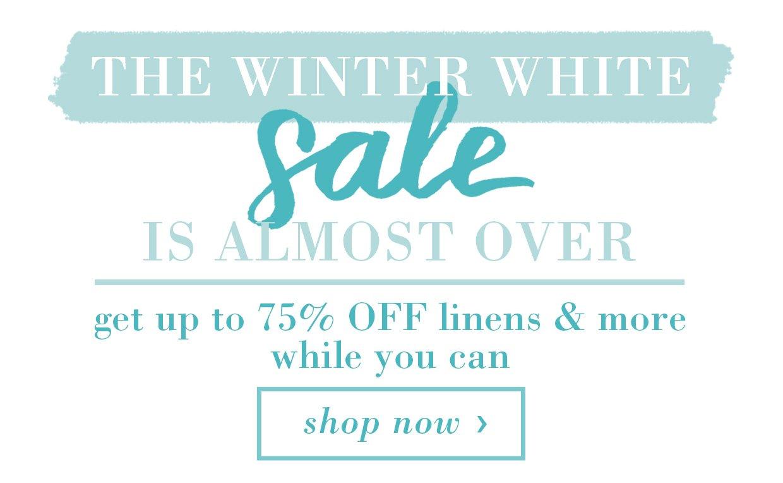 Winter White Sale Banner