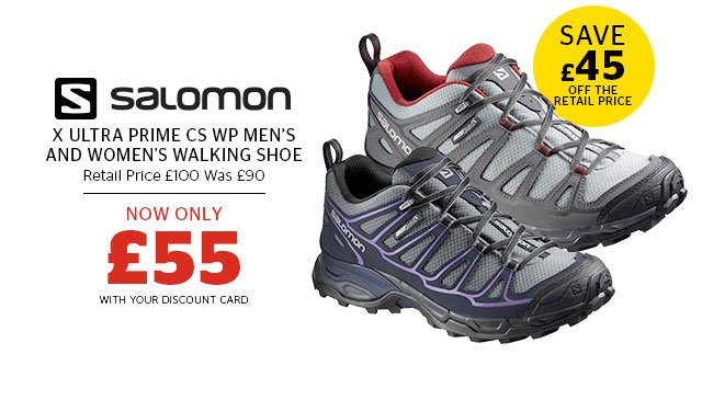 Salomon X Ultra Prime CS WP Men's and Women's Walking Shoe