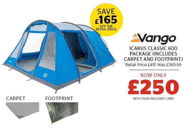 Vango Icarus Classic 600 Package (includes Carpet and Footprint)