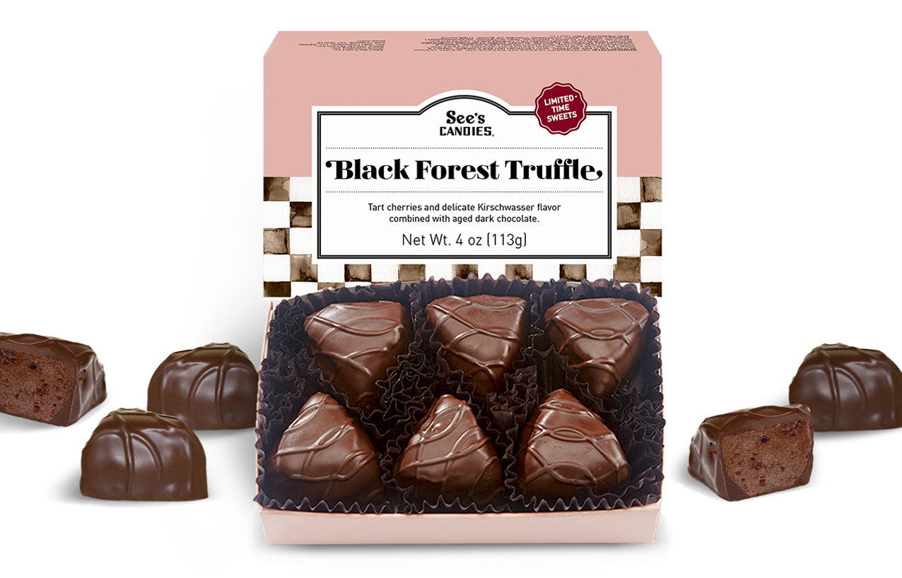 See's Candies, Inc.: 🍒 LIMITED TIME! Black Forest Truffles are ...