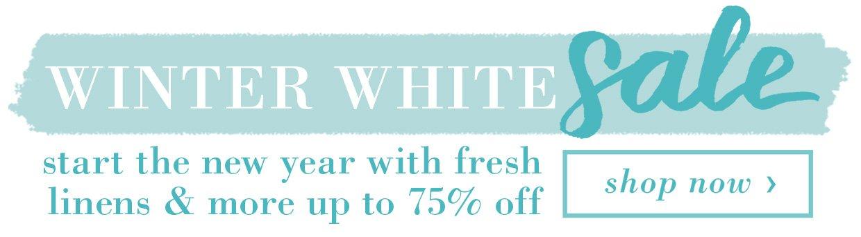 Winter White Sale Banner A