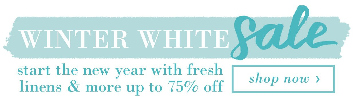 Winter White Sale Banner
