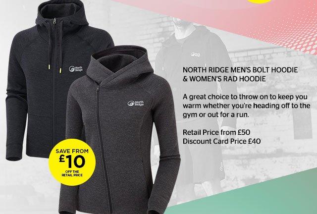 North Ridge Bolt Hoodie & Rad Hoodie