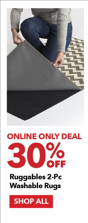 Online Only Deal 30% off Ruggables 2-Piece Washable Rugs. Shop All.