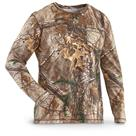 Guide Gear Men's Heavyweight Cotton Camo T-shirt, Long-sleeved
