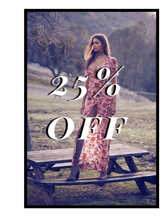 25% Off Saffron Maxi