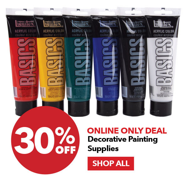 Online Only Deal 30% off Decorative Painting Supplies. Shop All.