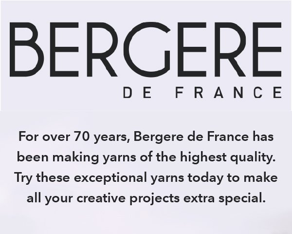 For over 70 years, Bergere de France has been making yarns of the highest quality. Try these exceptional yarns today to make all your creative projects extra special.