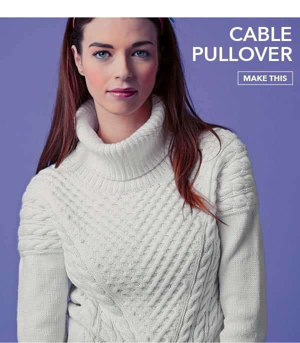 Cable Pullover. MAKE THIS.