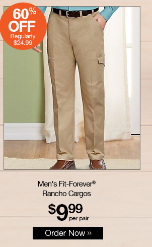 Shop Men's Fit-Forever® Rancho Cargos