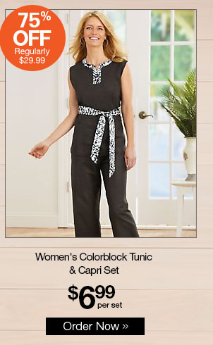Shop Women's Colorblock Tunic & Capri Set