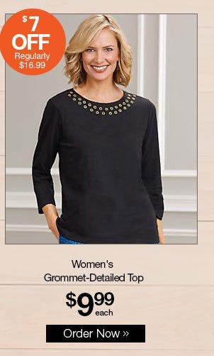 Shop Men's Grommet-Detailed Top