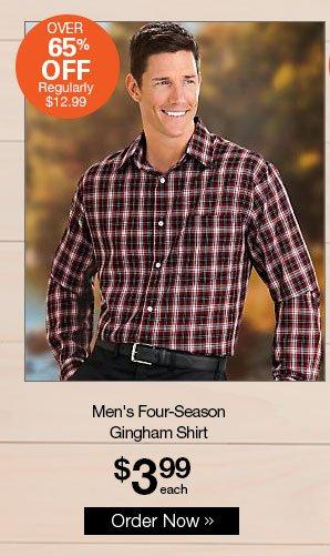 Shop Men's Four-Season Gingham Shirt